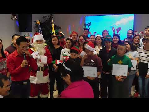 Certification for youth volunteers during Holiday Visit at the Woodland Hills Senior Housing