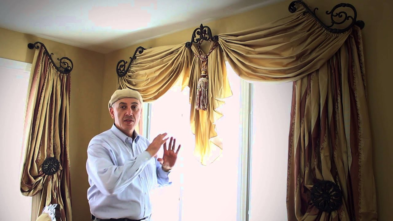 How to make a simple curtain swag elderbranch 34 do it yourself ds window treatment ideas with swags solutioingenieria Images