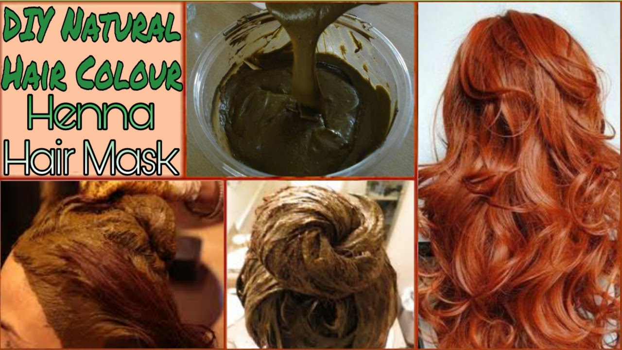 DIY Natural Hair Color In Hindi | How to Make Henna Hair Mask At ...