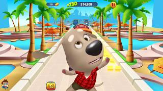 Talking Tom Gold Run Android New Gameplay - Talking Ben Catch the Raccoon - Part 85