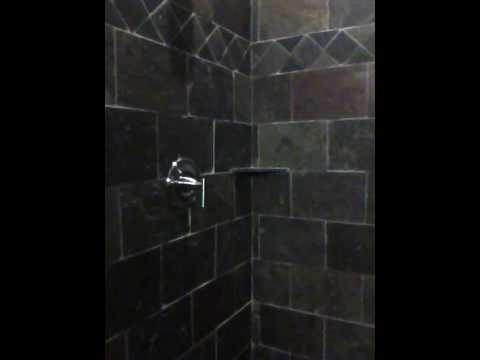 Imagistone Shower in Slate Tile - YouTube
