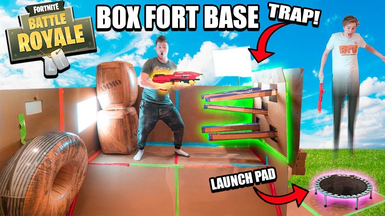 FORTNITE IN REAL LIFE BOX FORT BASE!! 📦⛏ WORKING Fortnite ...