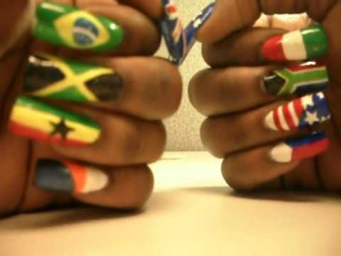 World Flag Nails by Shayp