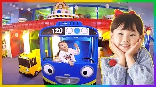 공룡과 사자가 배가 고파요 라임이의 타요 키즈카페 어린이 놀이터 Tayo Bus Car Kids Cafe Toys Play おもちゃ 라임튜브 Игрушки