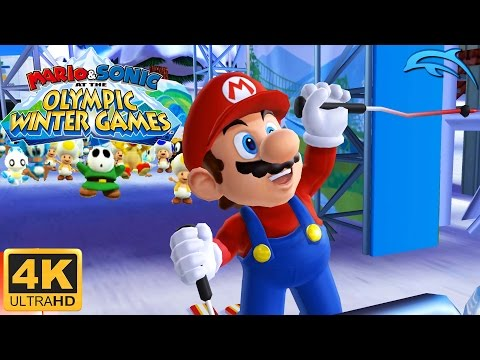 Mario & Sonic at the Olympic Winter Games - Gameplay Wii 4K 2160p (Dolphin 5.0)