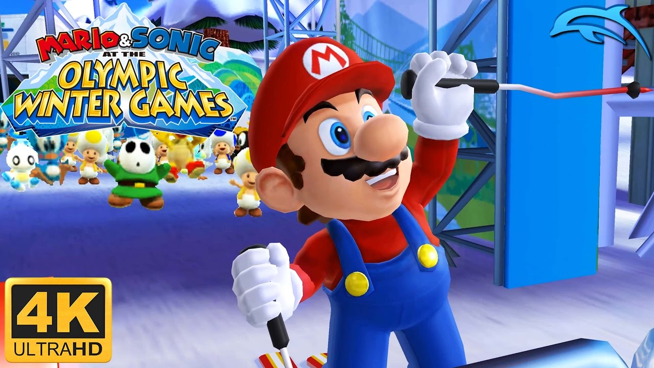 mario sonic at the olympic winter games gameplay wii. Black Bedroom Furniture Sets. Home Design Ideas