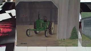 Cool Old oil paintings of vintage farm tractors and Tucker Sno-Cats!