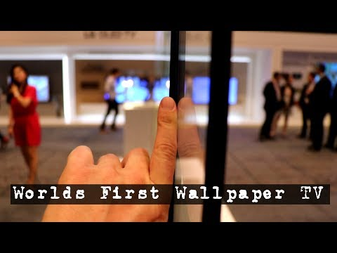 LG Releases Worlds First WALLPAPER TV // 2018