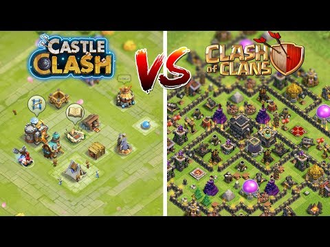 CASTLE CLASH Vs. CLASH OF CLANS 😎