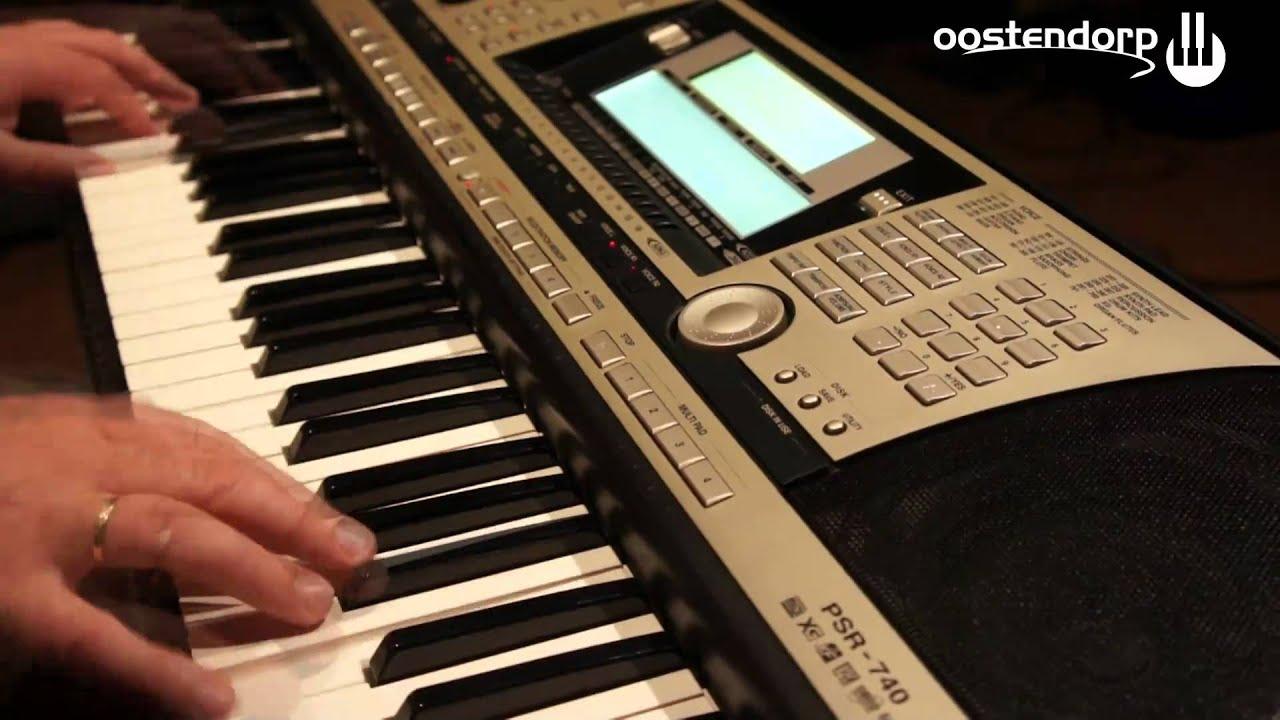 yamaha psr 740 keyboard bij oostendorp muziek youtube. Black Bedroom Furniture Sets. Home Design Ideas