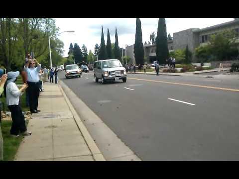 Presidential Motorcade in Palo Alto 4-20-11