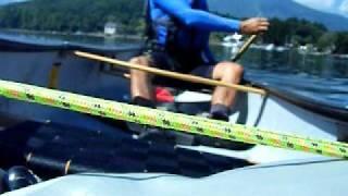2010/09/11 湖楽園より中ノ島へ。愛艇MADRIVER 14で。中沢 崇。