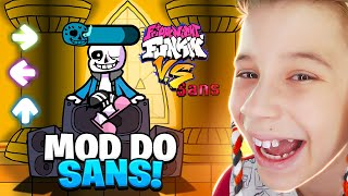 INACREDITÁVEL ESSE MOD DO SANS NO FRIDAY NIGHT FUNKIN😳