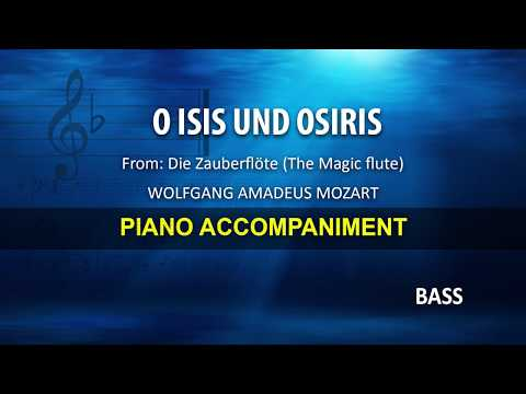O Isis un d Osiris / Mozart: Karaoke + Score guide / Bass