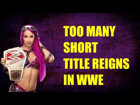 WWE Has Too Many Short Title Reigns