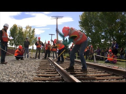 Canadian Pacific Spike Driving Competition 2013