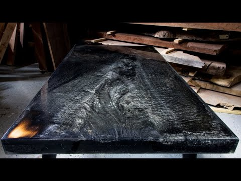 Fire Epoxy Table - Woodworking Projects - Resin Art