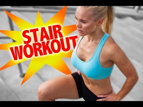 Fat Busting & Leg Toning Stair Workout with Swedish Model Dominica Westling