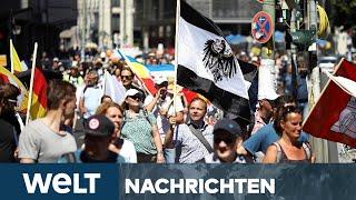 """Welt News Im Stream: Anti Corona Demo In Berlin   Strafanzeige Gegen Veranstalter """"querdenken 711"""""""