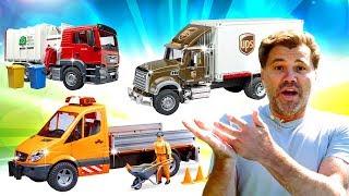 Bruder (Брудер) — мультфильмы про машинки фургон и мусоровоз. Play Рой! ПЕРЕВОЗИМ МЕБЕЛЬ ВЕСЕЛО!