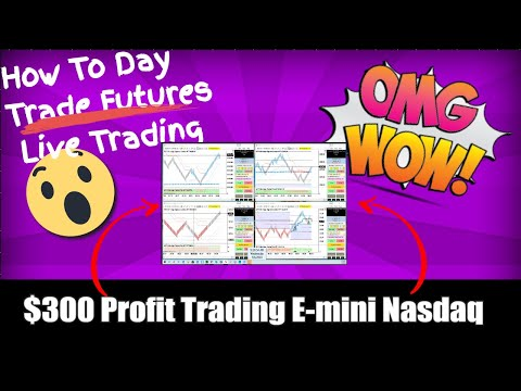 How To Day Trade E Mini Nasdaq NQ $300 in 15 Minutes!