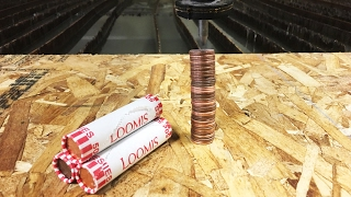 Roll Of Pennies vs A 60,000 PSI Waterjet