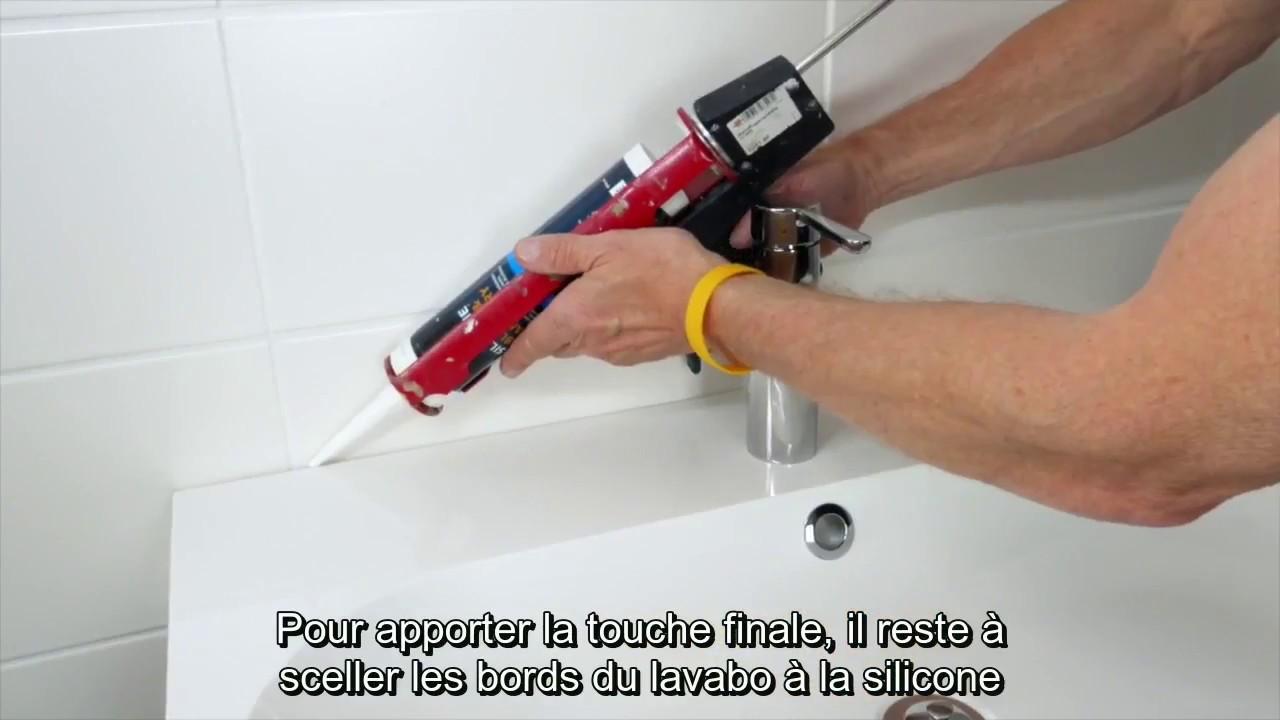 partie 3 comment installer un lavabo 1 vasque youtube. Black Bedroom Furniture Sets. Home Design Ideas