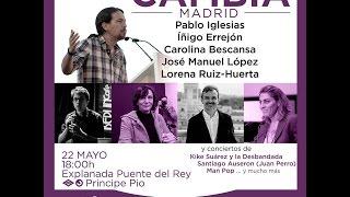 Cierre de campaña electoral de Podemos en Madrid