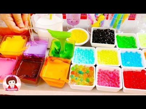 เจ้นุ้ยเปิดร้านขายขนมโตเกียว อาหารตามสั่ง ชาชมไข่มุกนมเหนียวของเล่นหม้ข้าวหม้อแกง ของเล่นอาหาร