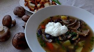 Суп. Грибная Юшка.  Суп с Грибами. Простой Вкусный Рецепт.