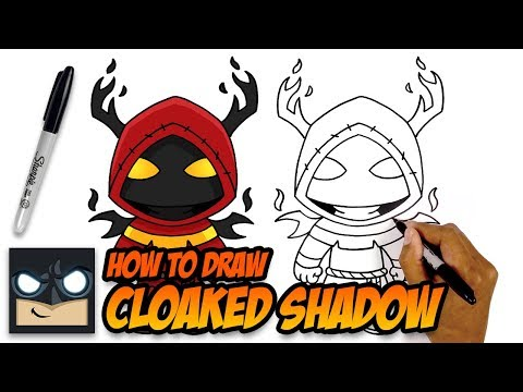 HOW TO DRAW FORTNITE | CLOAKED SHADOW | STEP BY STEP