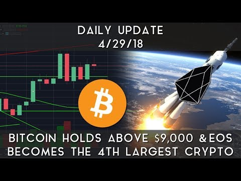 Daily Update (4/28/2018) | Bitcoin holds $9,000 & EOS moons to become #4