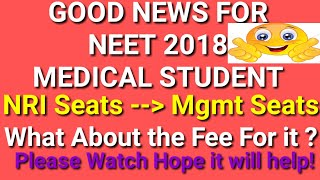 NEET NRI SEATS CONVERTING INTO MANAGEMENT