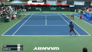 auger aliassime s 16 winners vs darian king plus other amazing rallies shots granby 2015 2r