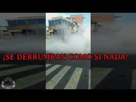Terremoto en México de 7.1 (Vídeos de los derrumbes) Sismo 19 de septiembre