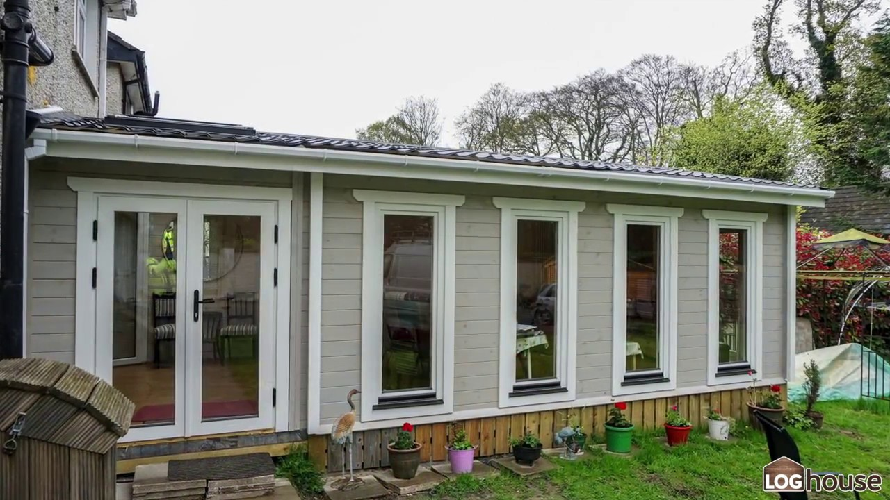 Extension log cabin youtube for Log cabin extensions