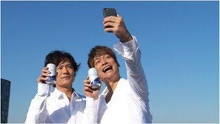 稲垣吾郎と香取慎吾をメッセンジャーに起用した13日から販売されるサン...