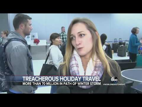 Dangerous Weather Conditions Threaten Holiday Travelers