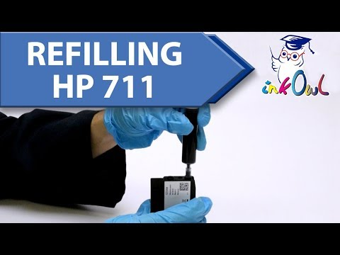 How to refill HP 711 Ink Cartridges for T120, T520