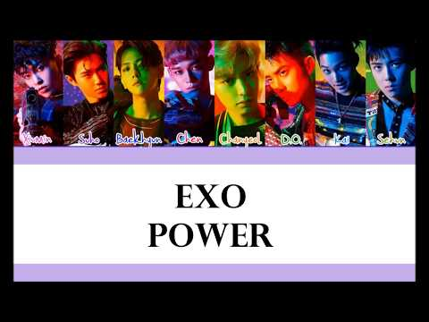 EXO - POWER LYRICS KARAOKE COLOR CODED ROM