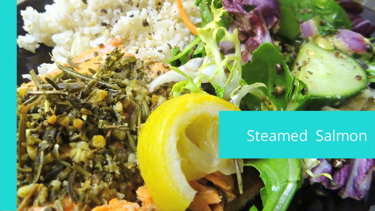 How To Make Steamed Salmon  Easy Rice Cooker Meals #sportyafros  Youtube