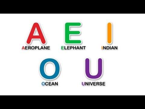 Aprende las vocales en inglés. Learn the vowels in english. - YouTube