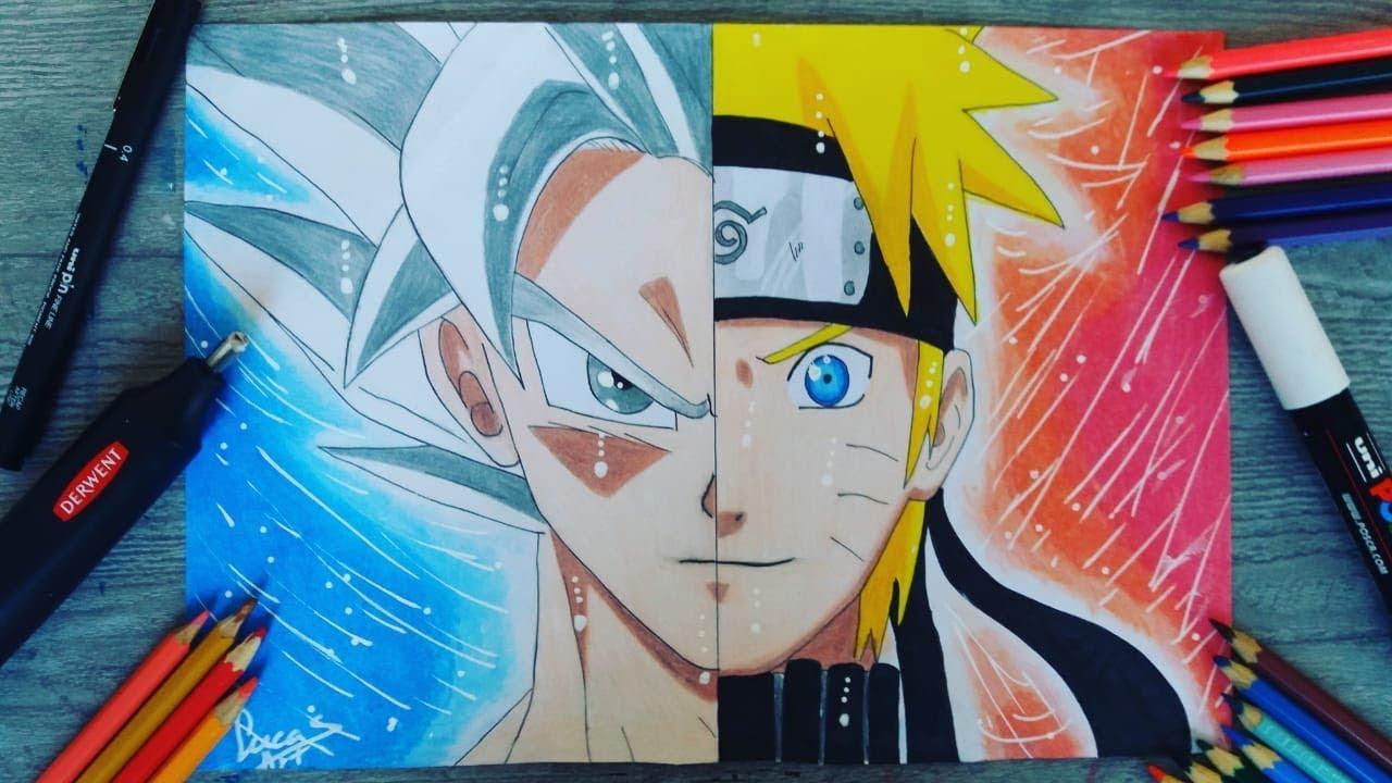 Como Desenhar Goku Naruto How To Draw Goku Naruto Dragonball Naruto