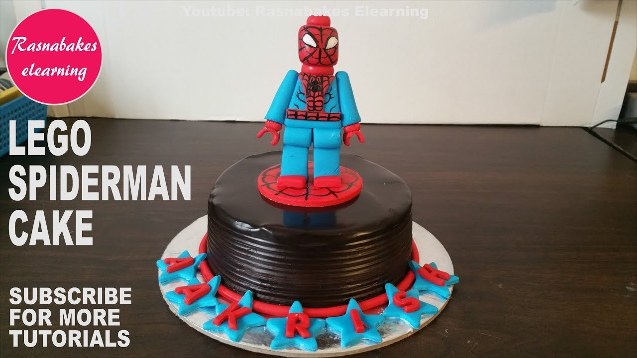 Lego Minifigures Spiderman Birthday Cake Design Kids Lego Super