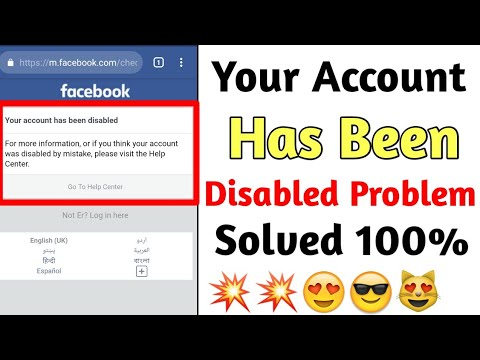 I disabled my facebook account