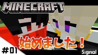 #01【Minecraft】始めました!最初から飛ばすぜ!!!【シグナンクラフト】