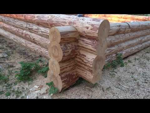 Срубы домов из Велижа: сруб 6х7 (бревно ошкурено) и сруб 6х7 + 3м полуоткрытая веранда