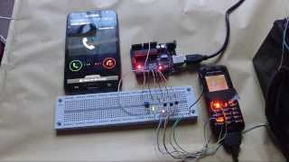 Hacked Phone - Arduino GSM Auto Dialler + Free Schematic and Code