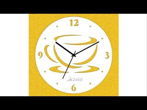 designer wall clock to decorate your living room and bedroom or office