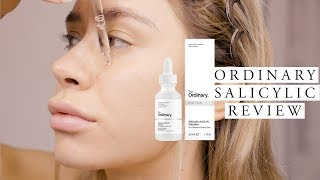 THE ORDINARY SALICYLIC ACID 2% SOLUTION REVIEW | On dry sensitive acne prone skin
